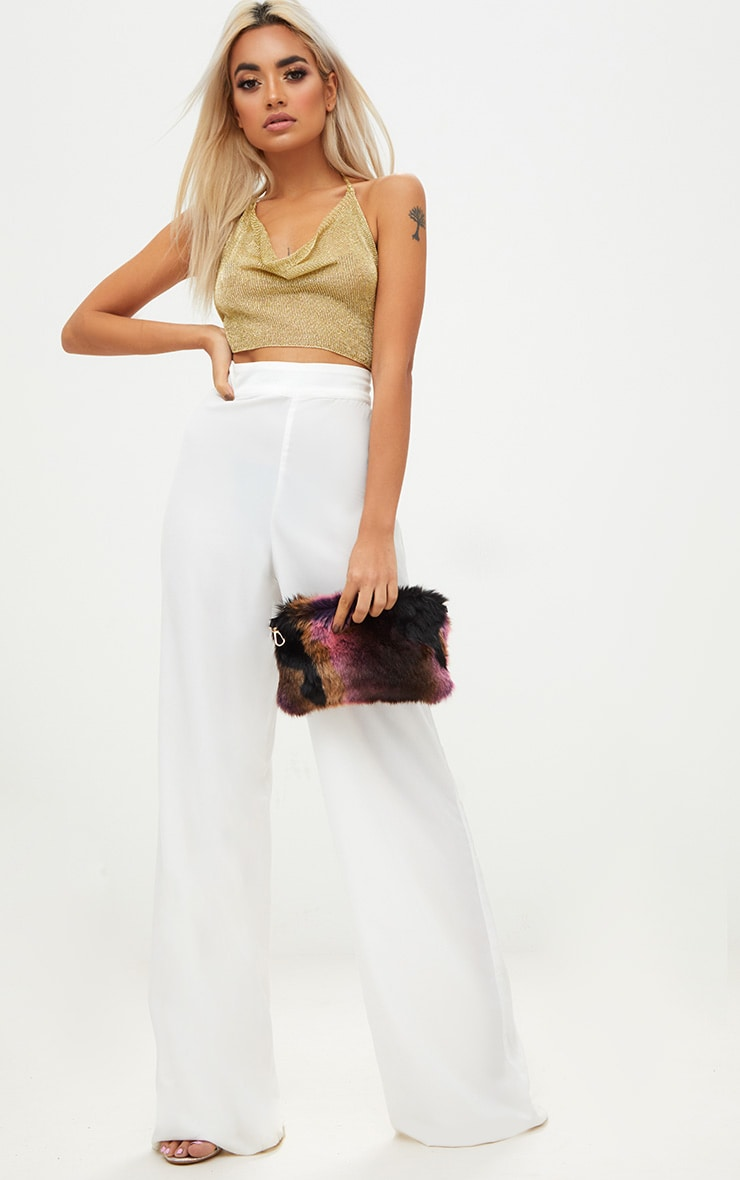 Multi Pink Faux Fur Shoulder Bag 2