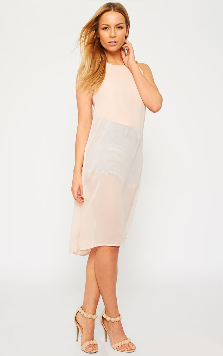 Cecile Nude Sleeveless Chiffon Top 3