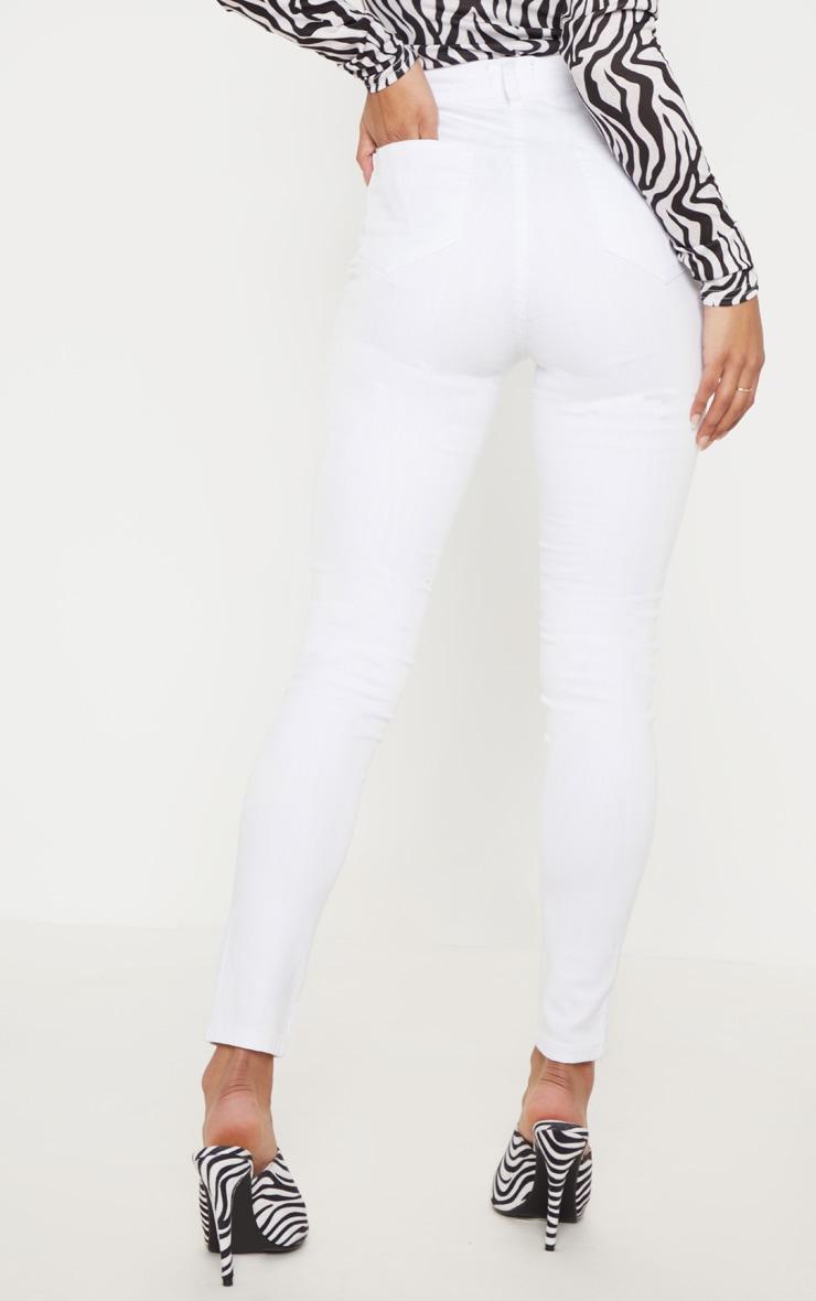 Jean skinny disco blanc 4