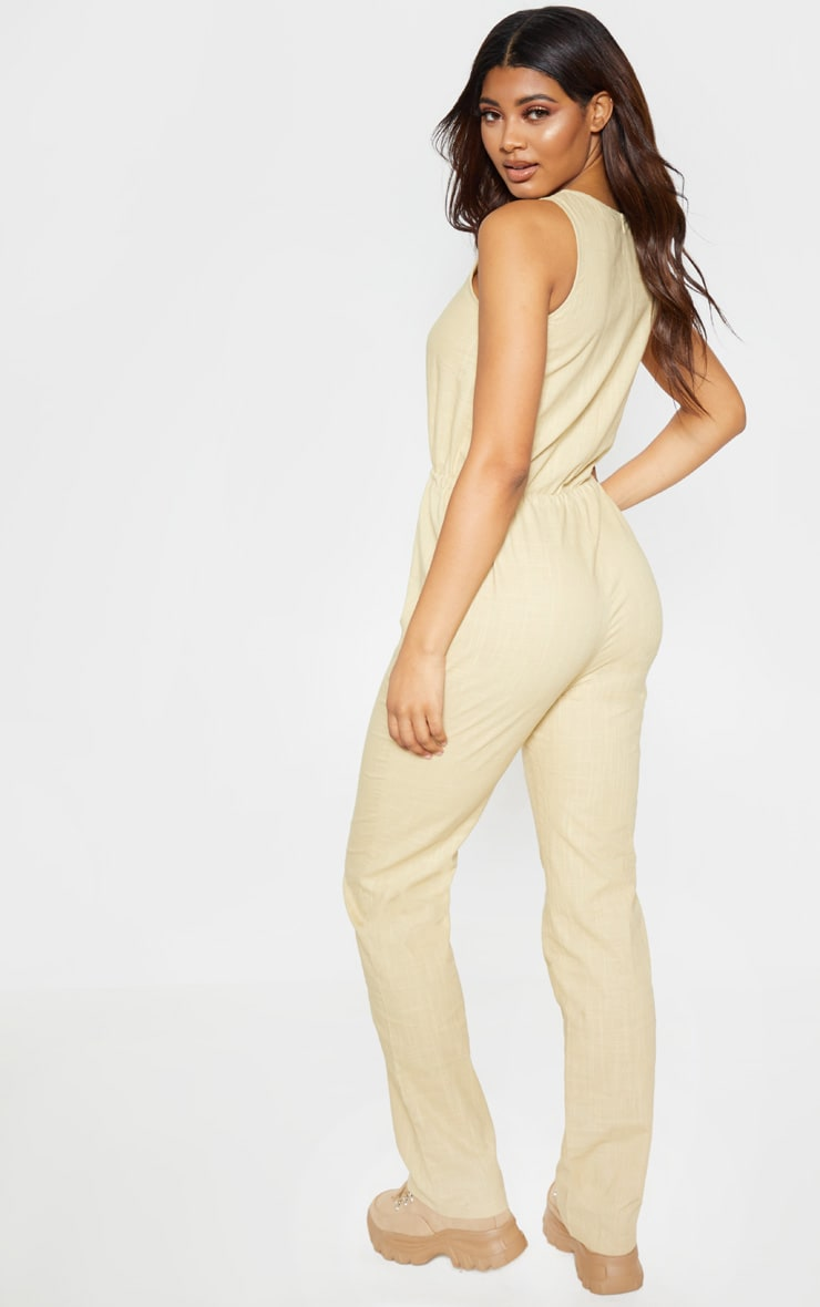 Tall Stone Casual Tie Waist Straight Leg Jumpsuit 2