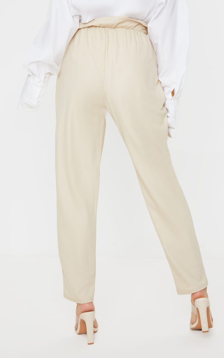 Stone Coated Paperbag Waist Pants 3