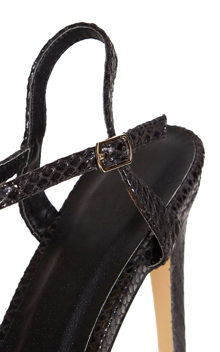 Jamie-Lee Black Gold Detail One Strap Sandals 4