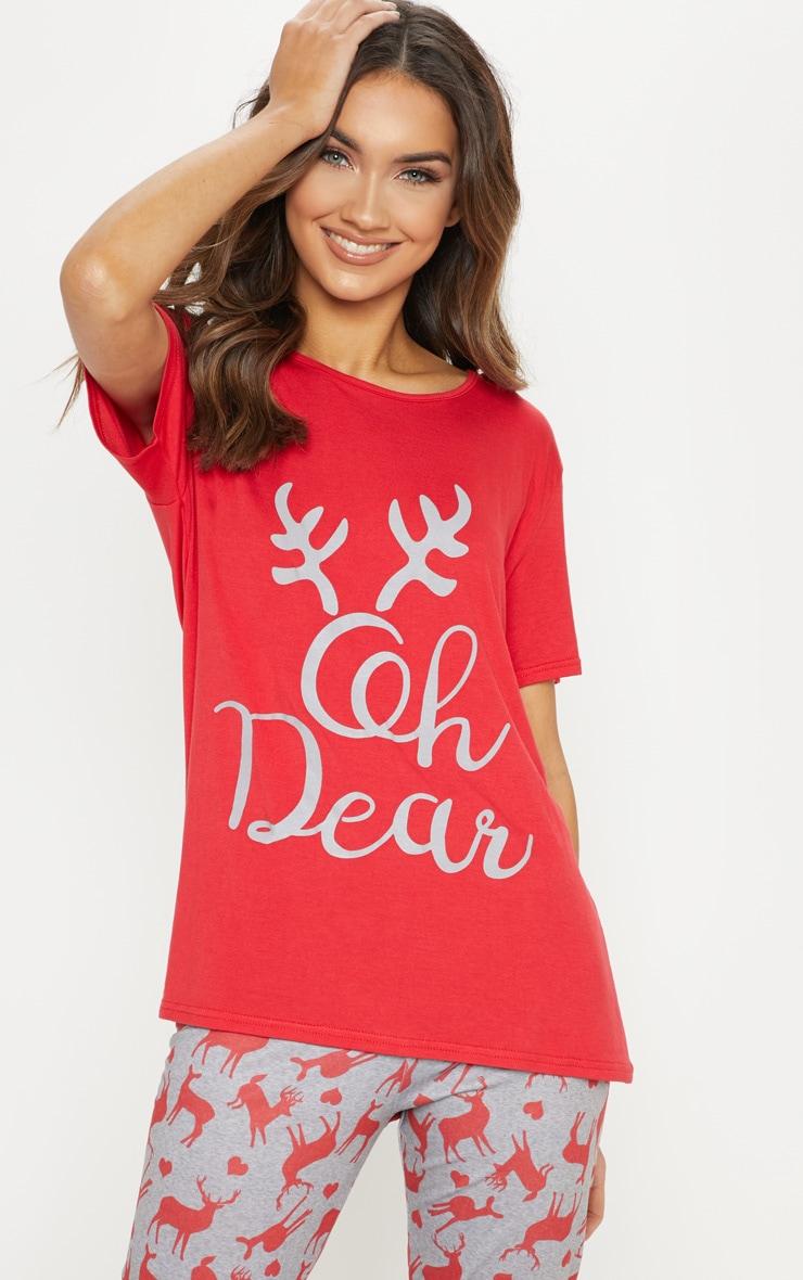 Oh Deer Legging Grey Pyjama Set  4