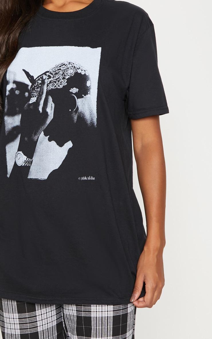 Black Tupac Oversized T Shirt 5