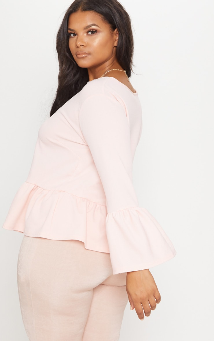 Plus Blush Frill Sleeve Top 2