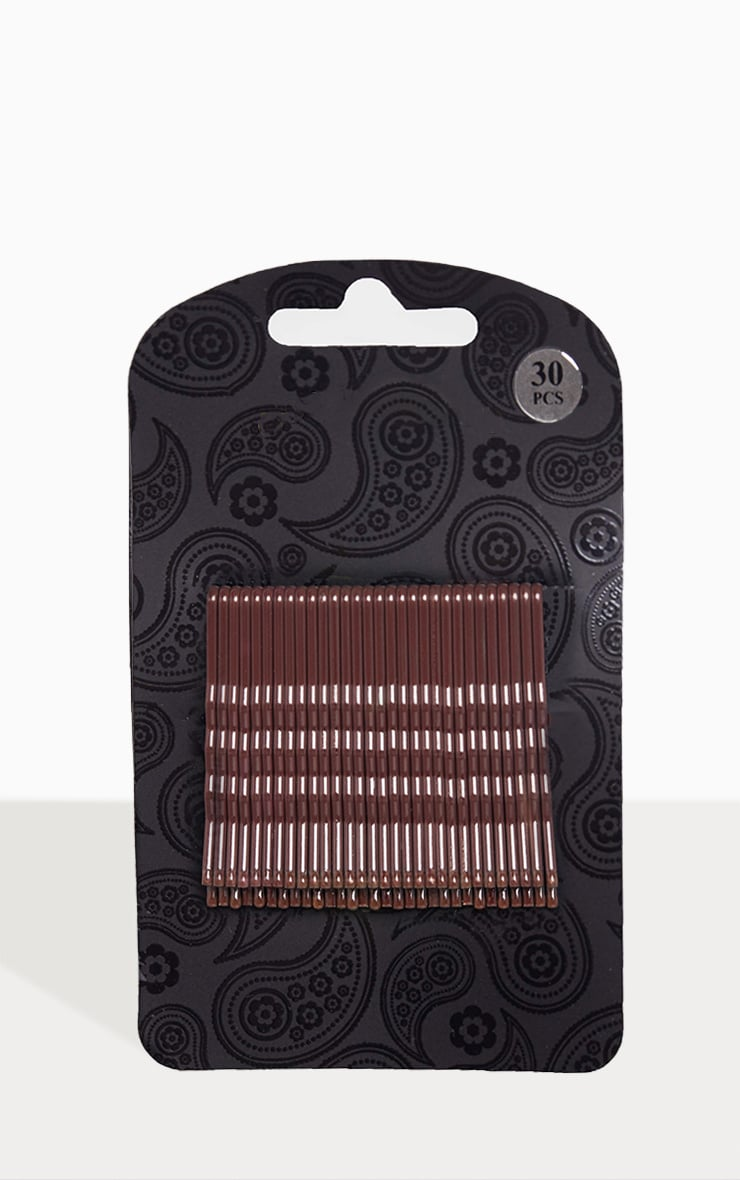 Brown Hair Grips 30 Pack 2