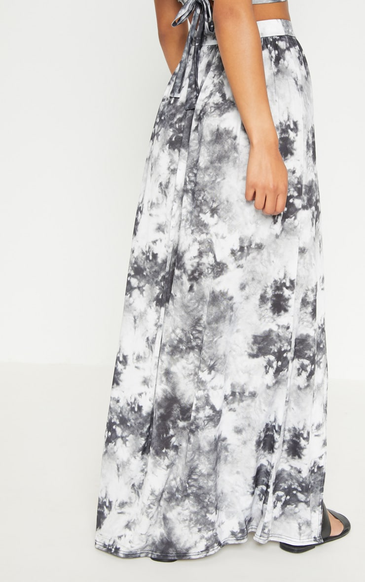 Grey Tie Dye Maxi Skirt 4