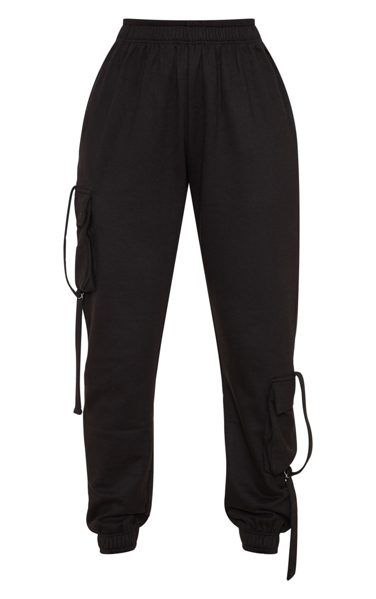 Black Cargo Detail Casual Jogger 3