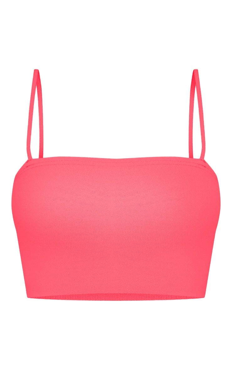Shape Neon Pink Strappy Crop Top 3