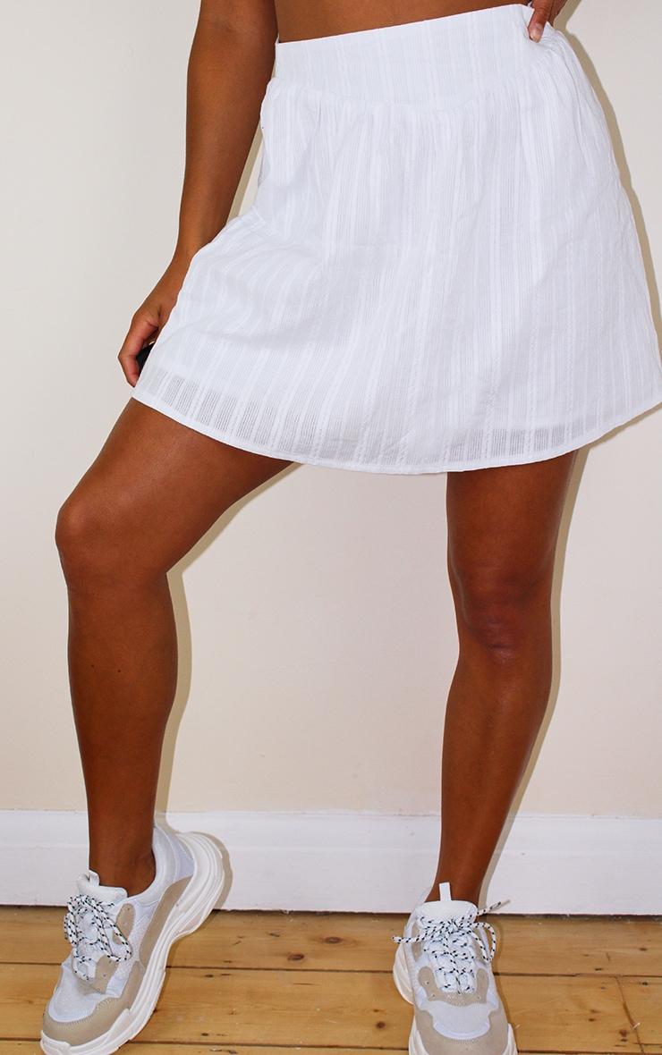 Petite White Lightweight Mini Skirt 2