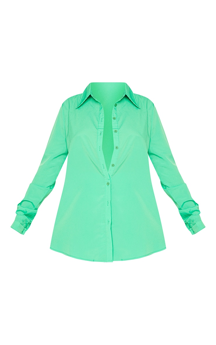 Bright Green Oversized Long Sleeve Shirt 5