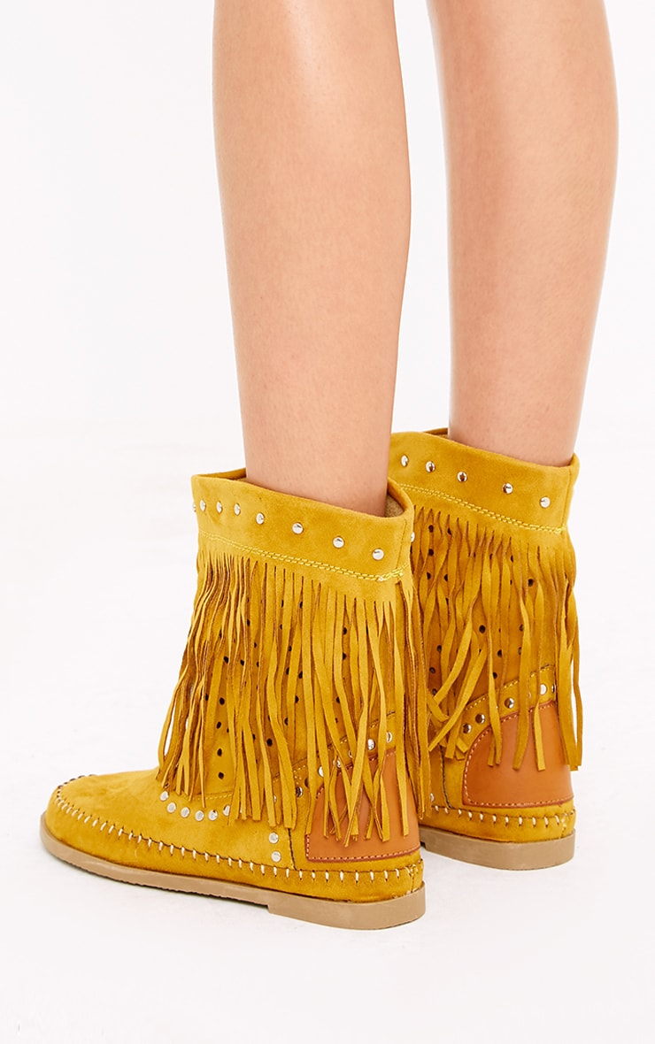 Rosanne Tan Fringed Boots 4