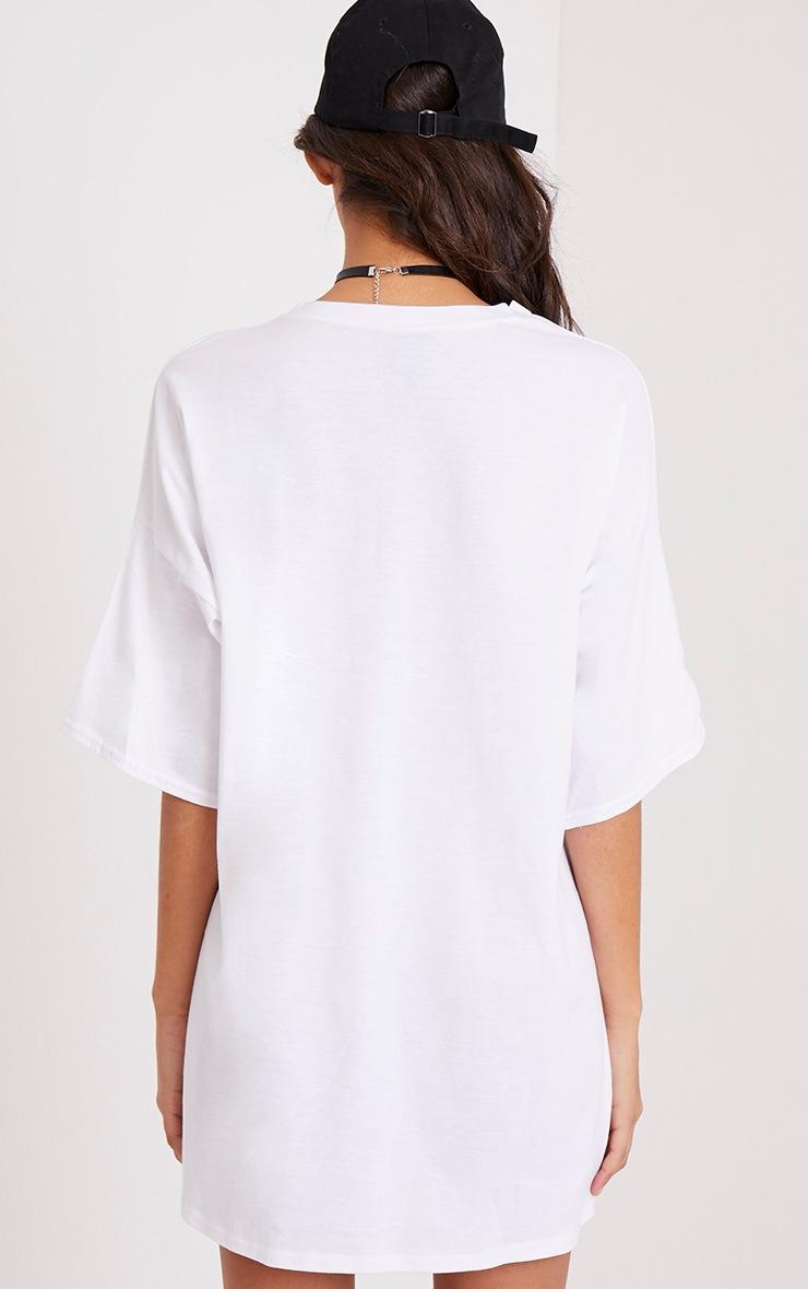 Robe t-shirt blanche à slogan LA Dodgers 2