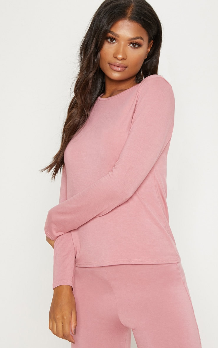 Dusty Pink Mix & Match Pyjama Long Sleeve Top