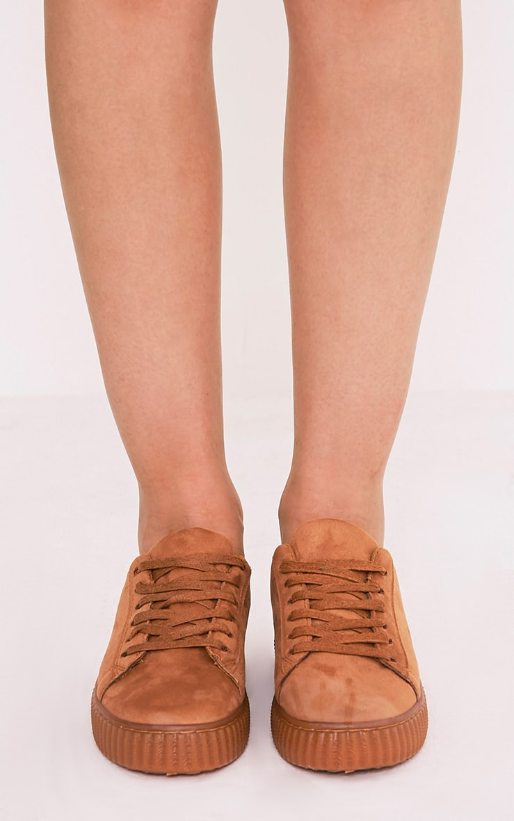 Kailey Camel Faux Suede Creepers 3