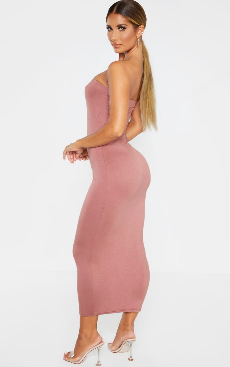 Dusty Rose Bandeau Midaxi Dress 2