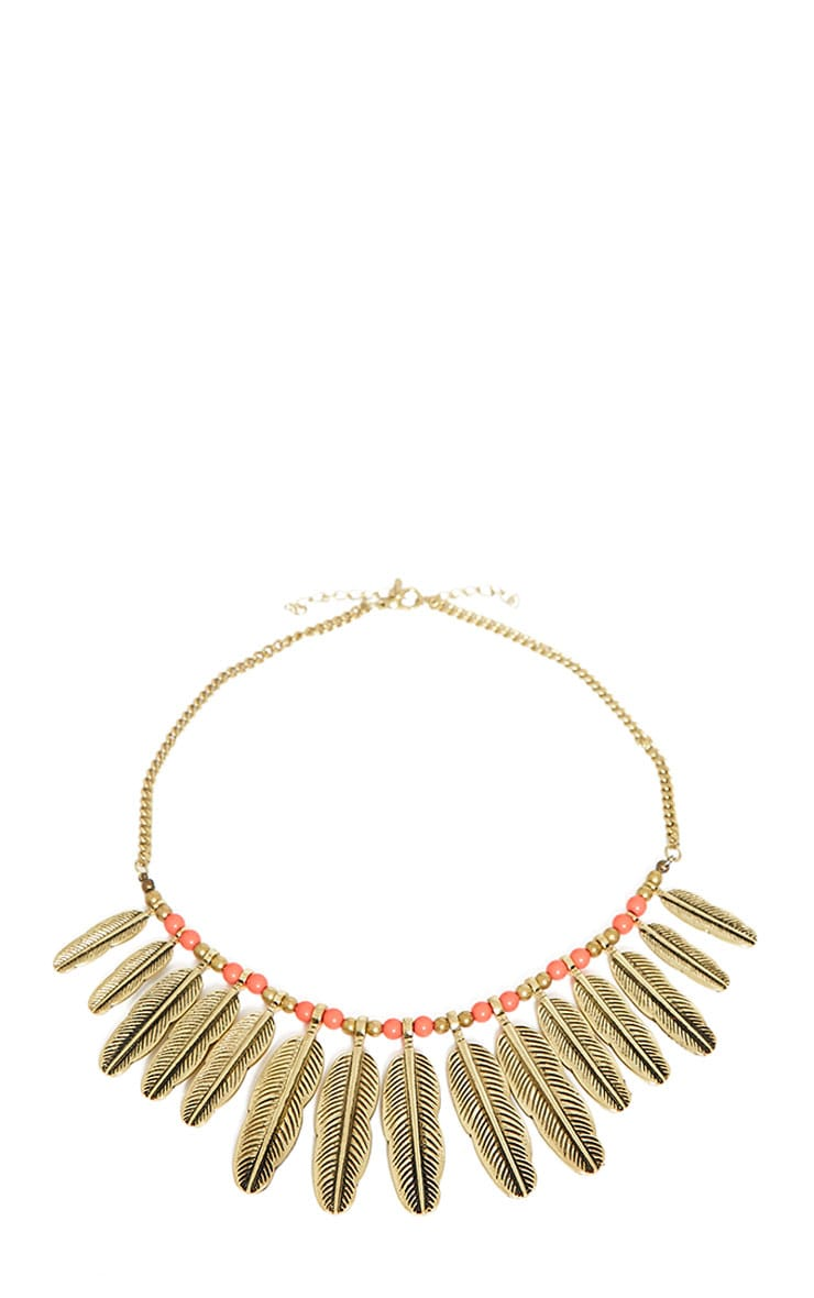 Malvina Gold Leaf Necklace 3