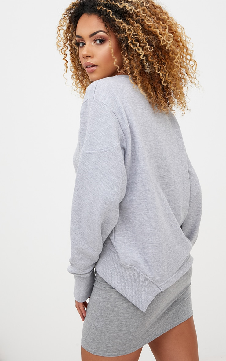 Grey Seam Detail Sweater 1