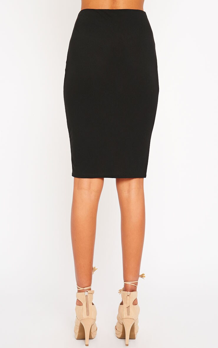 Klarisa Black Midi Skirt 4
