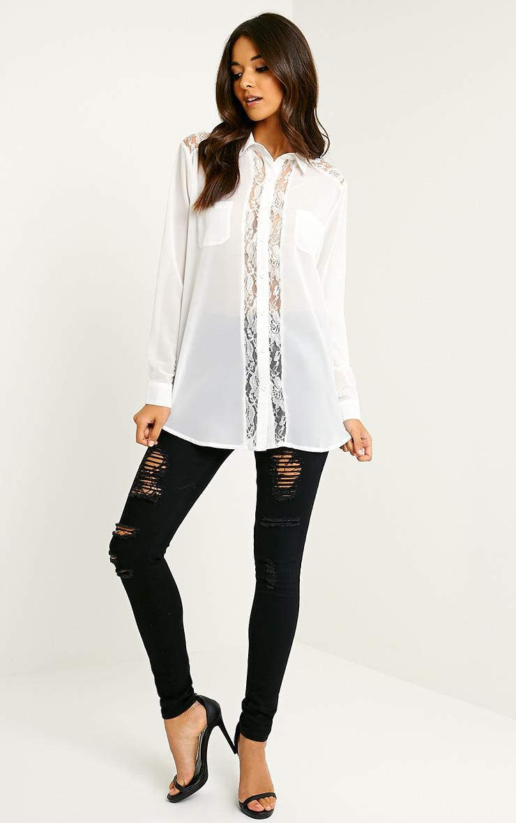 Ruri Cream Lace Detail Shirt 3