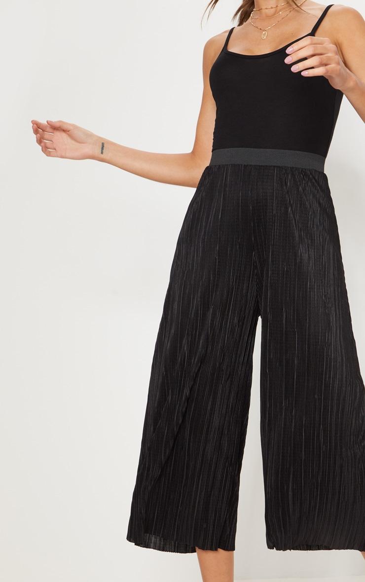 Black Oversized Plisse Culotte 5