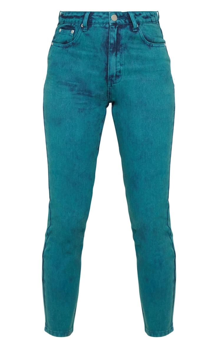 Acid Green Straight Leg Jeans 3