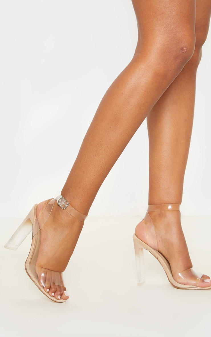 Nude Flat Heel Square Toe Sandal 2