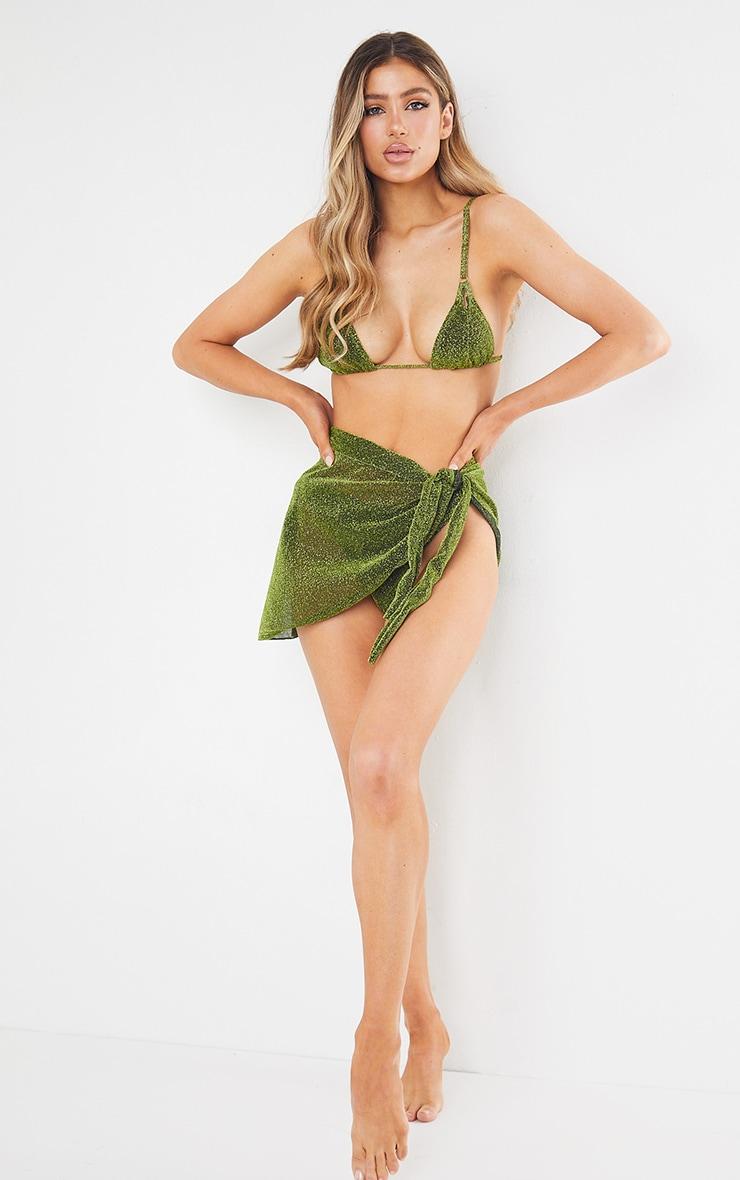 Green Glitter Sarong 2