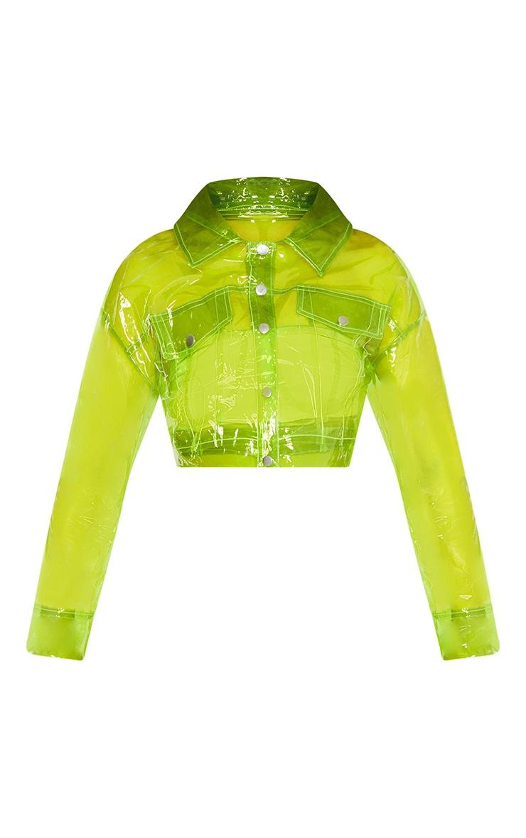Lime Transparent Crop Jacket 3