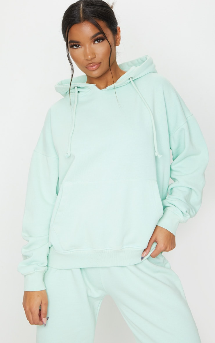Mint Washed Oversized Hoodie 1
