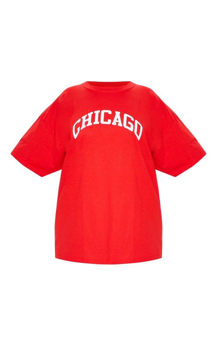 Plus Red Chicago Slogan T Shirt 3