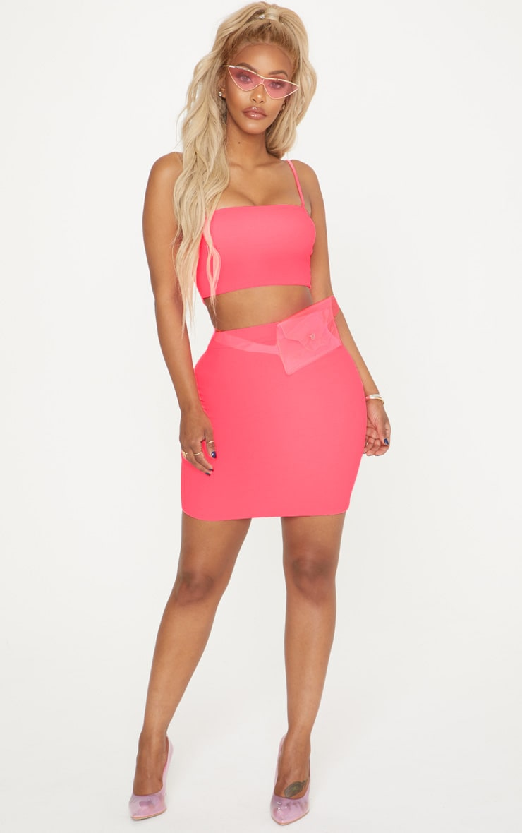 Shape Neon Pink Strappy Crop Top 4