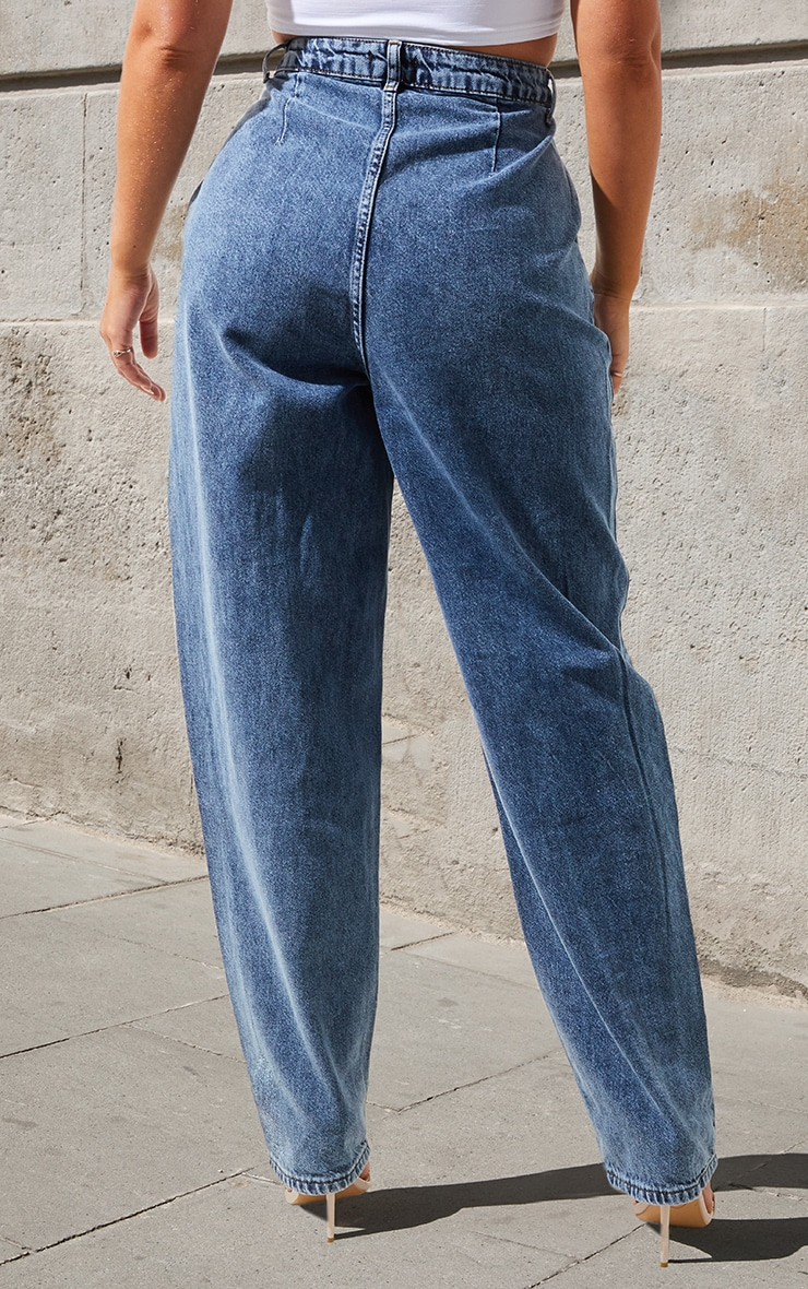 Mid Wash Oversized Balloon Mom Jean 4