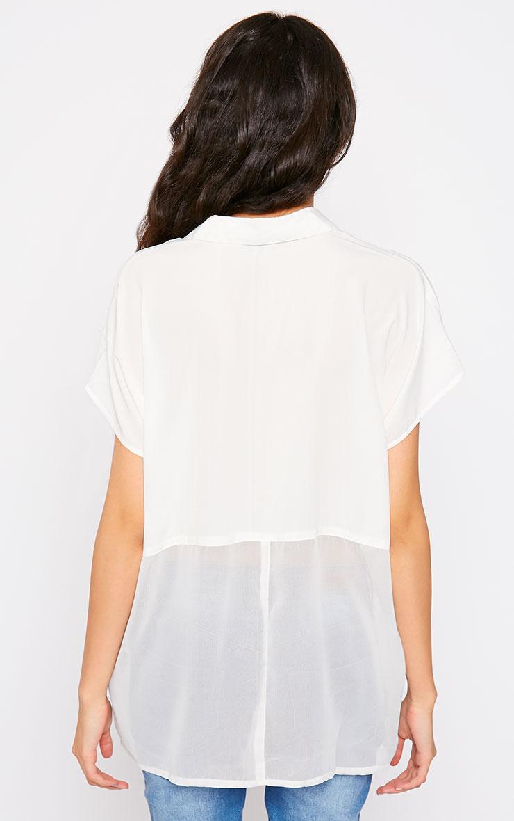 Lilith Cream Short Sleeve Shirt 2