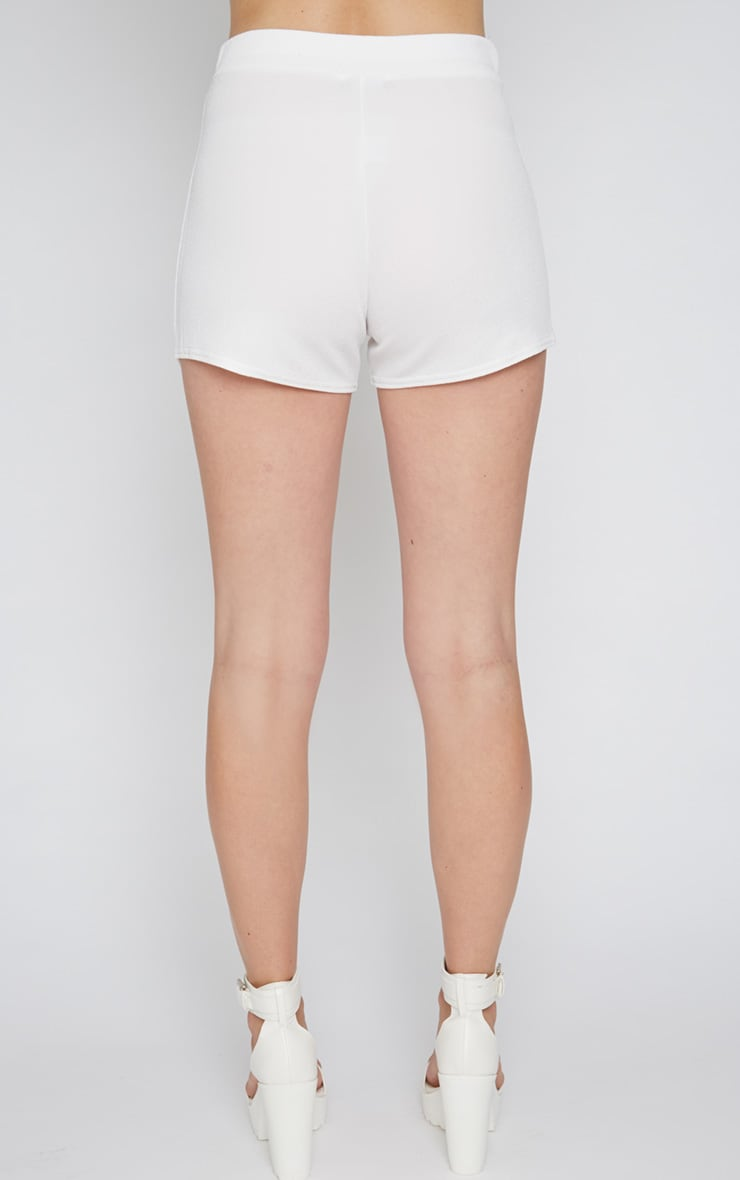 Isobel White Textured Skort  2