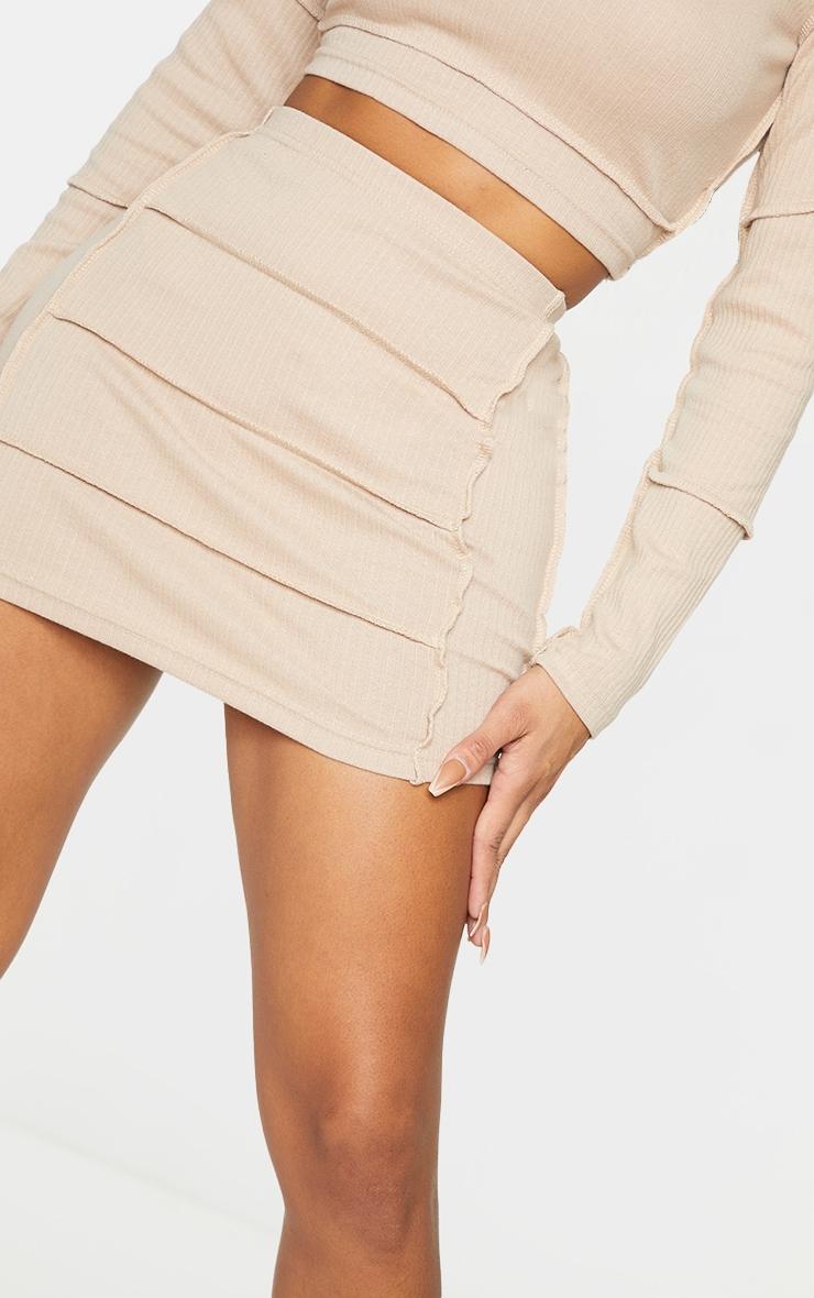 Shape Stone Rib Panel Bodycon Skirt 5