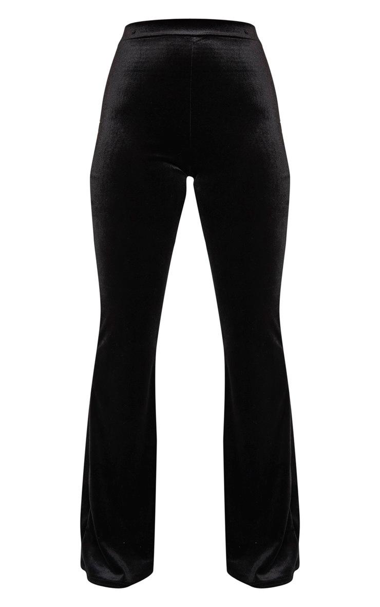Petite Black Velvet Wide Leg Flares 3