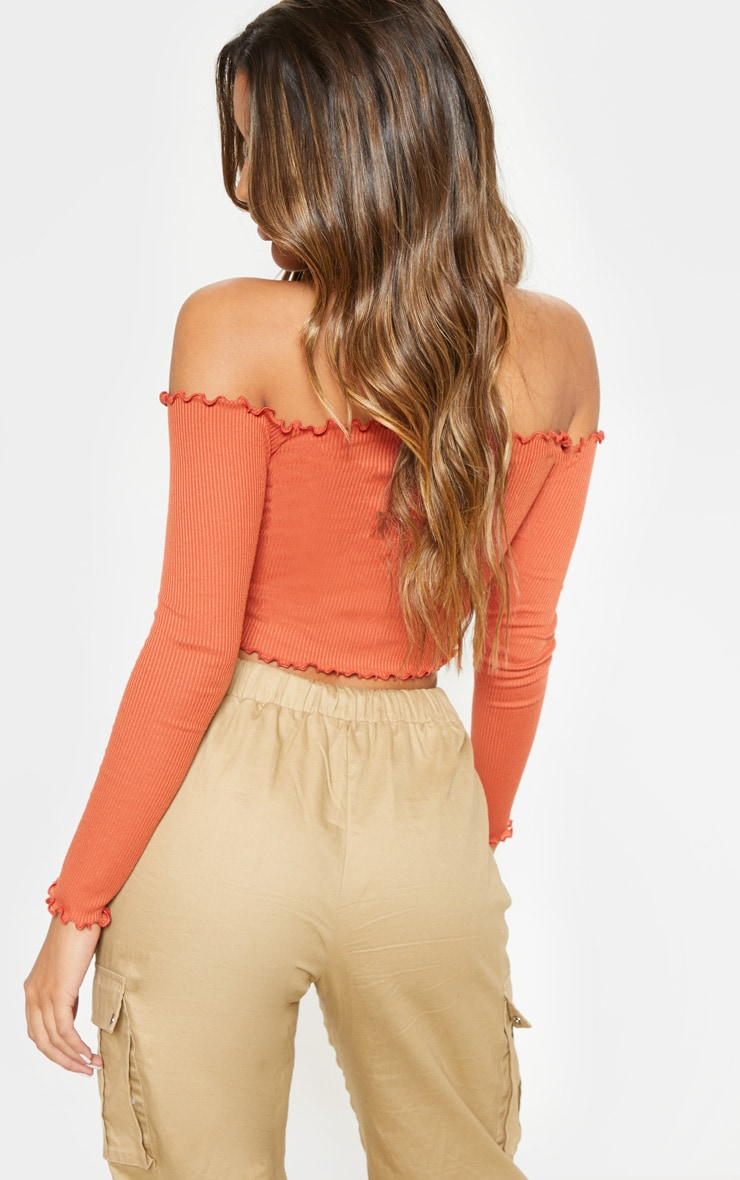 Spice Frill Edge Crop Top 2