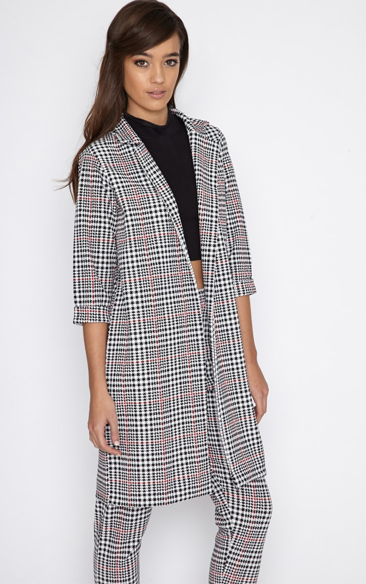 Devon Dogtooth Duster Jacket 1