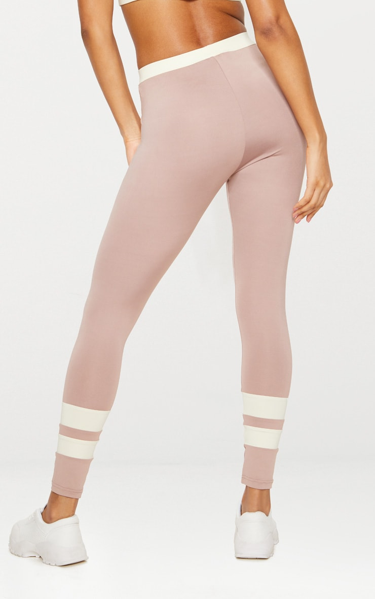 Taupe Contrast Leggings 5