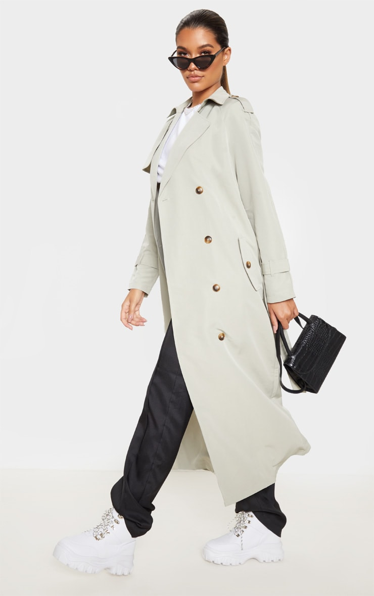 Pale Khaki Trench Coat 4
