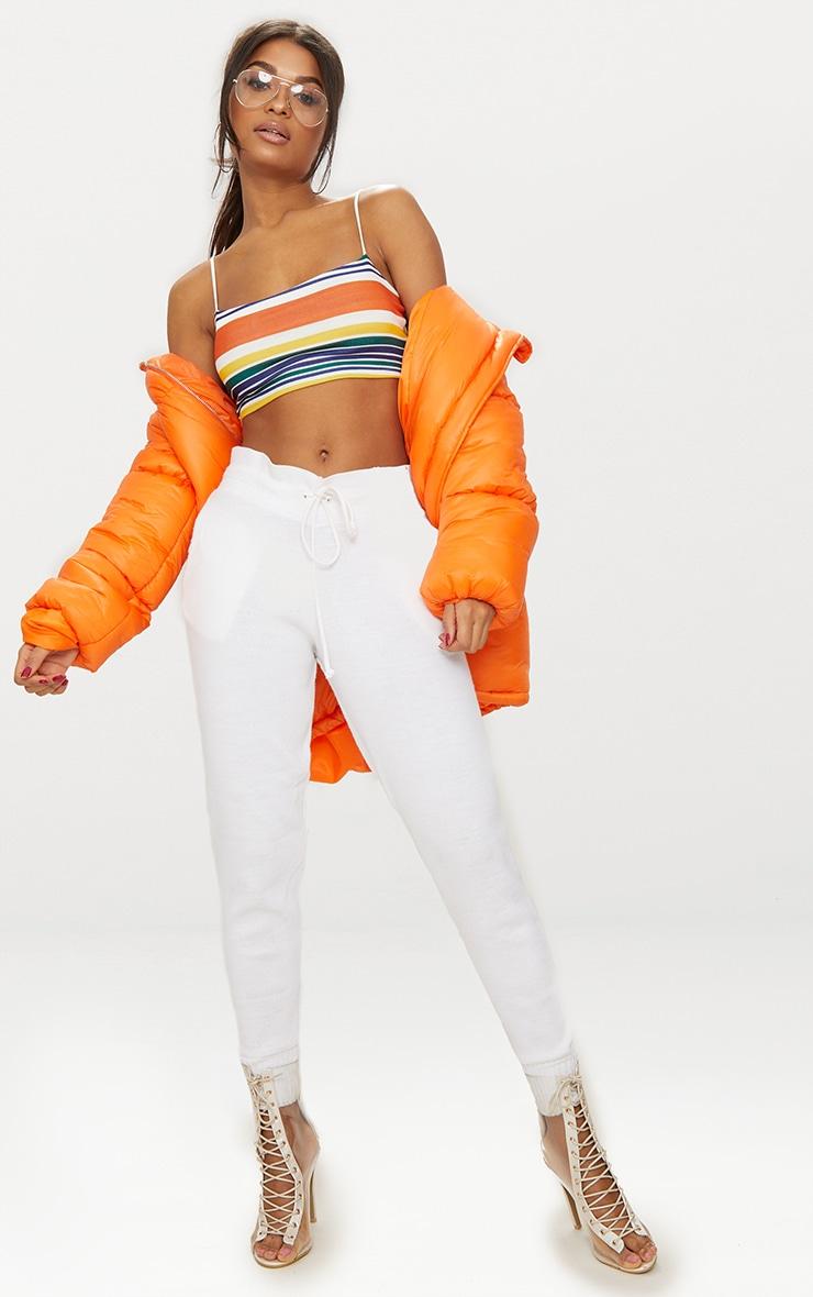 Orange Stripe Strappy Crop Top 4