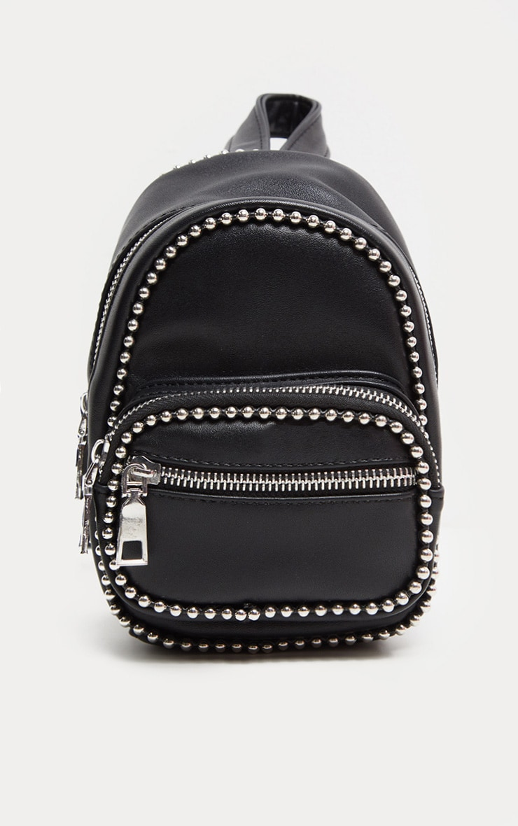 Black Ball Chain Border Mini Rucksack 2