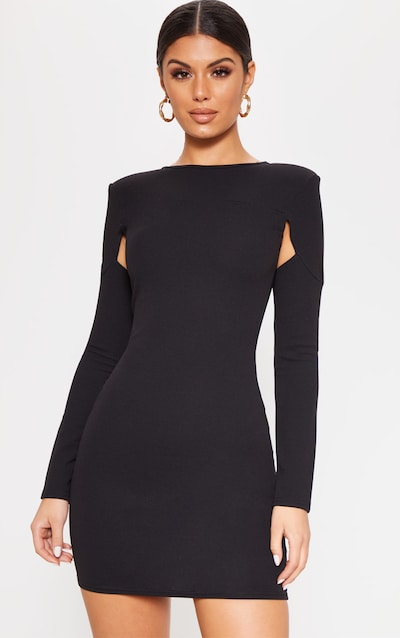 Stores online fawn black feather skirt bodycon dress secret questions rosegal