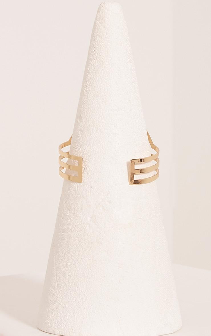 Lorena Gold Cut Out Upper Arm Cuff 4