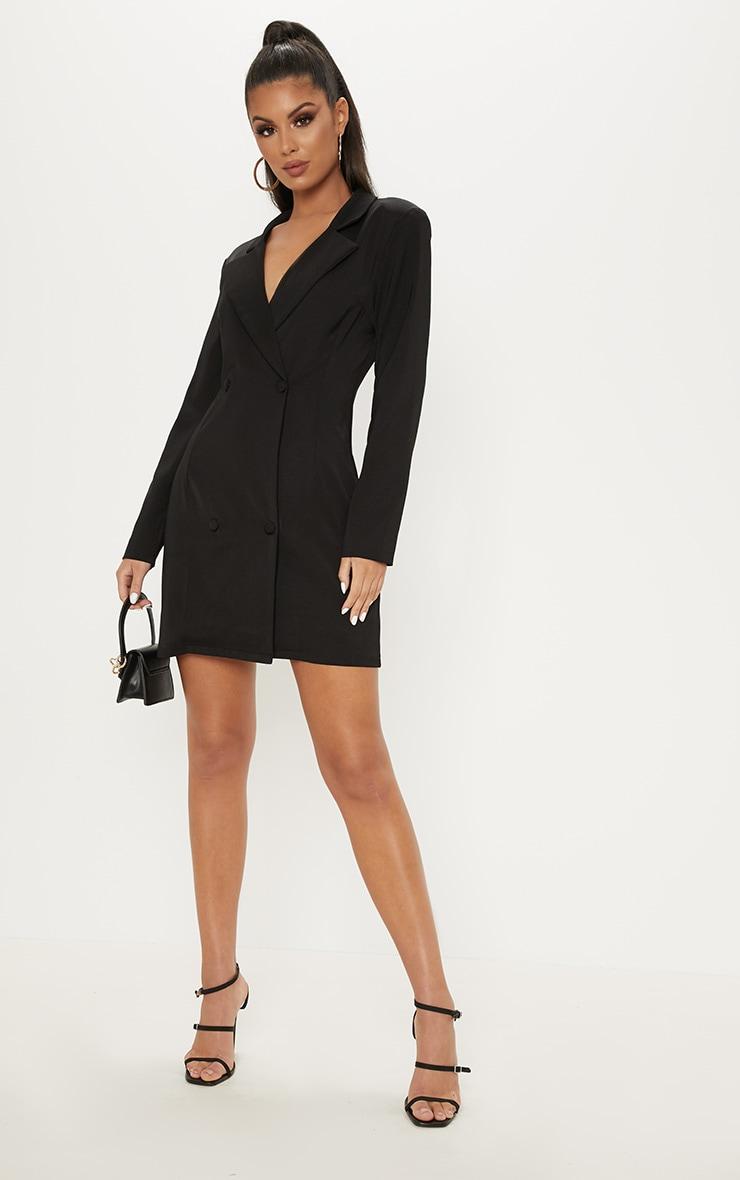 Black Long Sleeve Blazer Dress 4