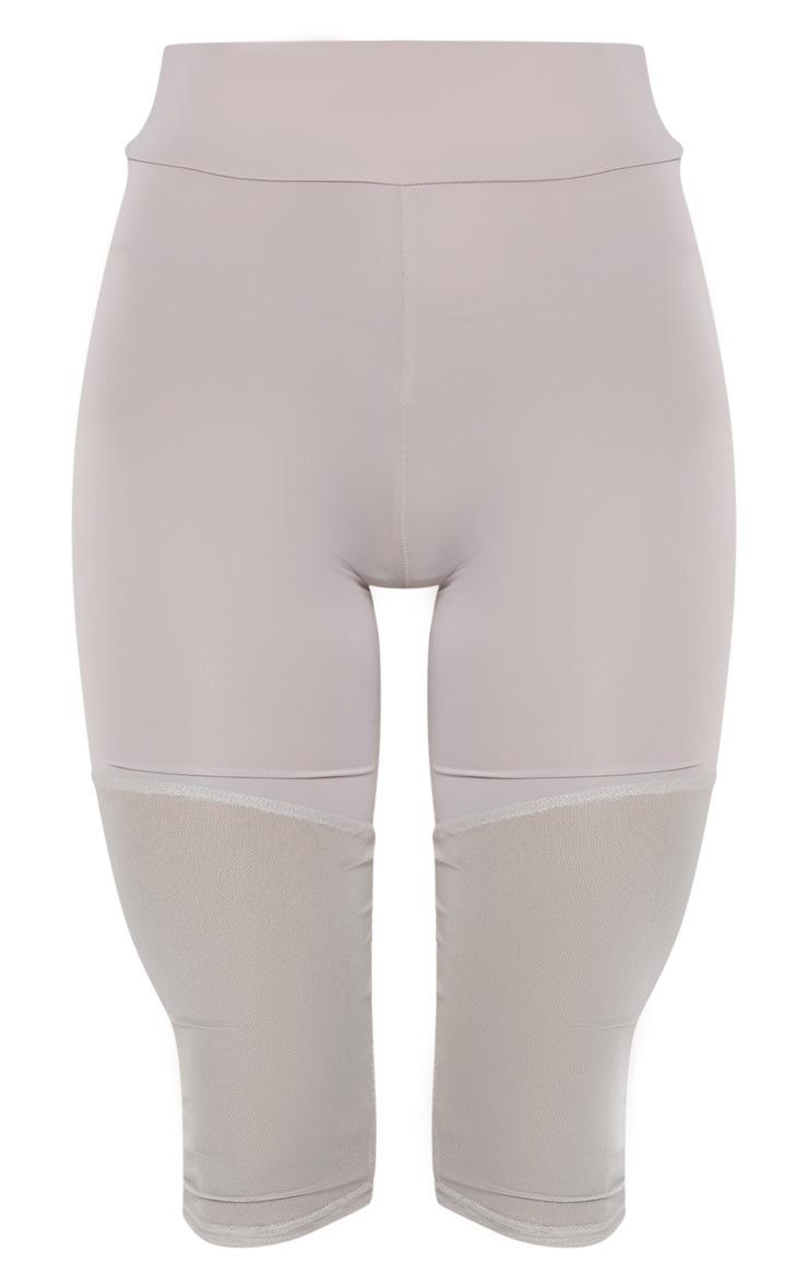 Grey Basic Mesh Insert Gym Legging 3