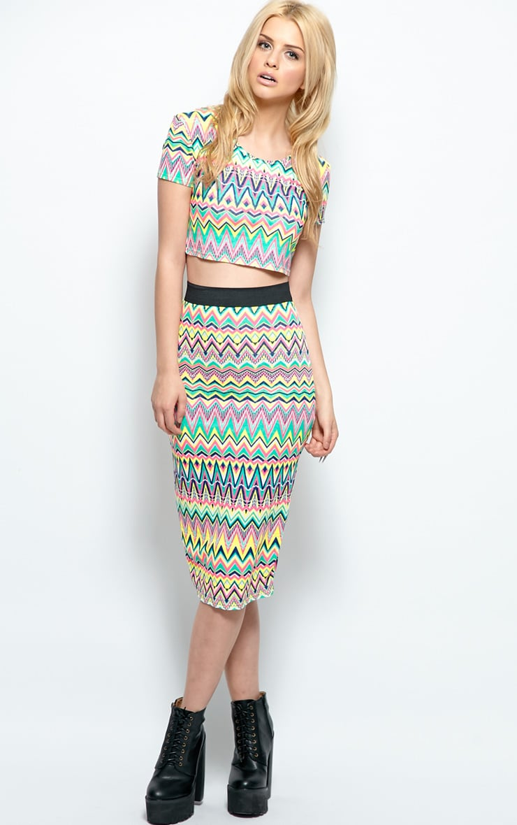 Aztec Print Midi Skirt 1