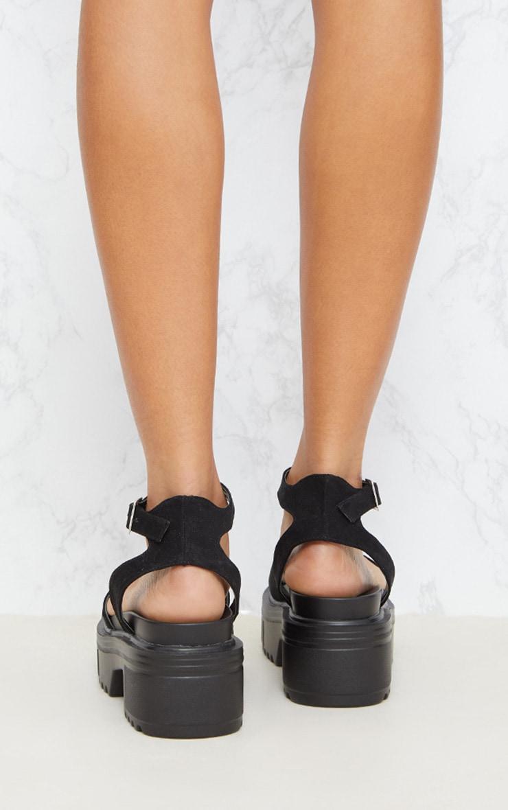 Black Chunky Sandal 4