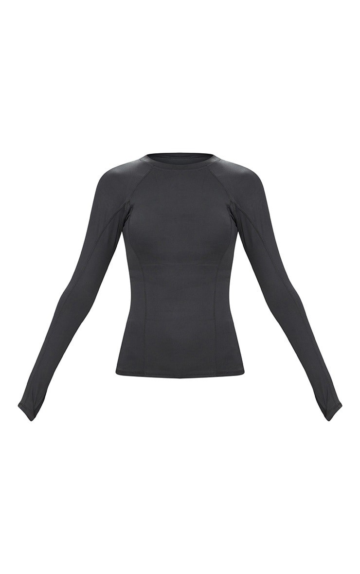 Charcoal Long Sleeve Gym Top  3